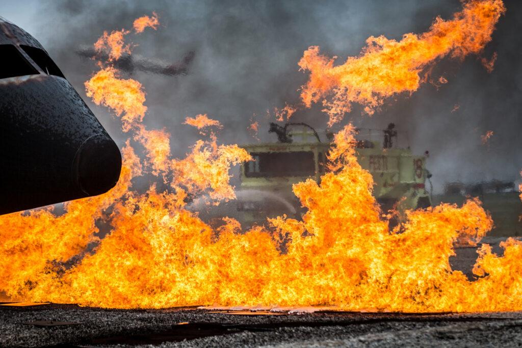 Fire on tarmack at festi training facility
